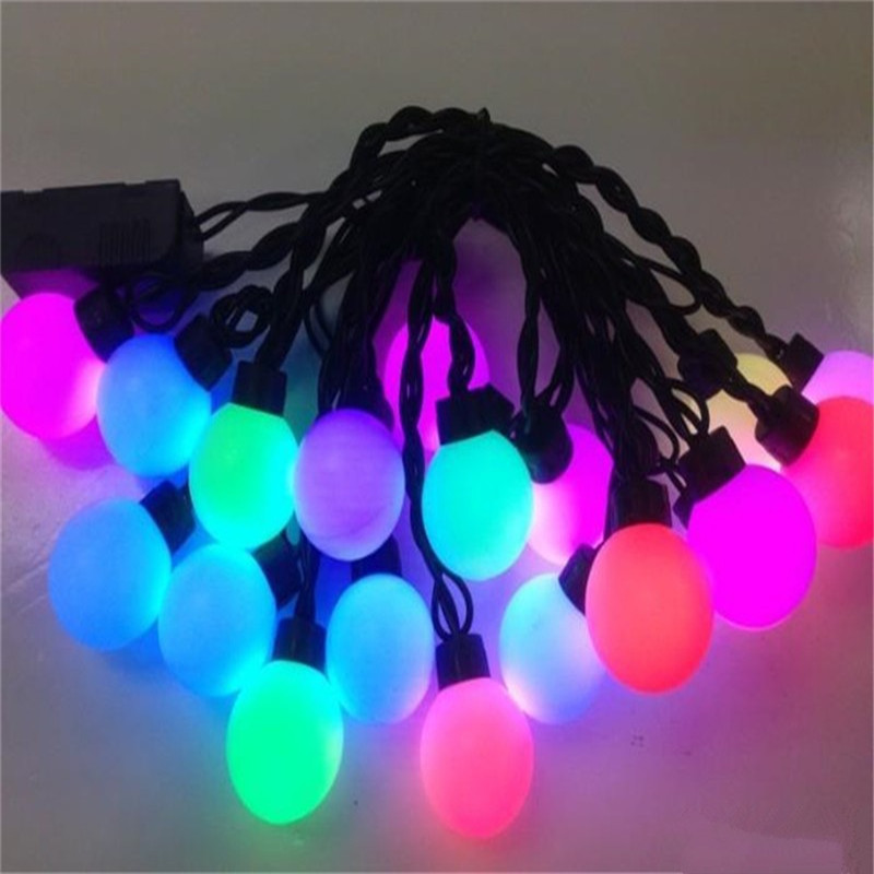 все цены на 5m RGB LED Cherry Ball string lighting New Year Christmas garland Lights Fairy wedding party Indoor Outdoor Garden Decoration