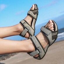 Zomer Schoenen Mannen Lederen Classic Sandalen Schoenen Mannen Romen Hoge Kwaliteit Comfort Slipper Strand Wandelschoenen Outdoor Sneakers Mannen