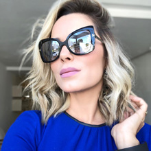 Big Frame Women Sunglasses 2018 Oversized Sun Glasses Vintage Luxury Shades for Camouflage