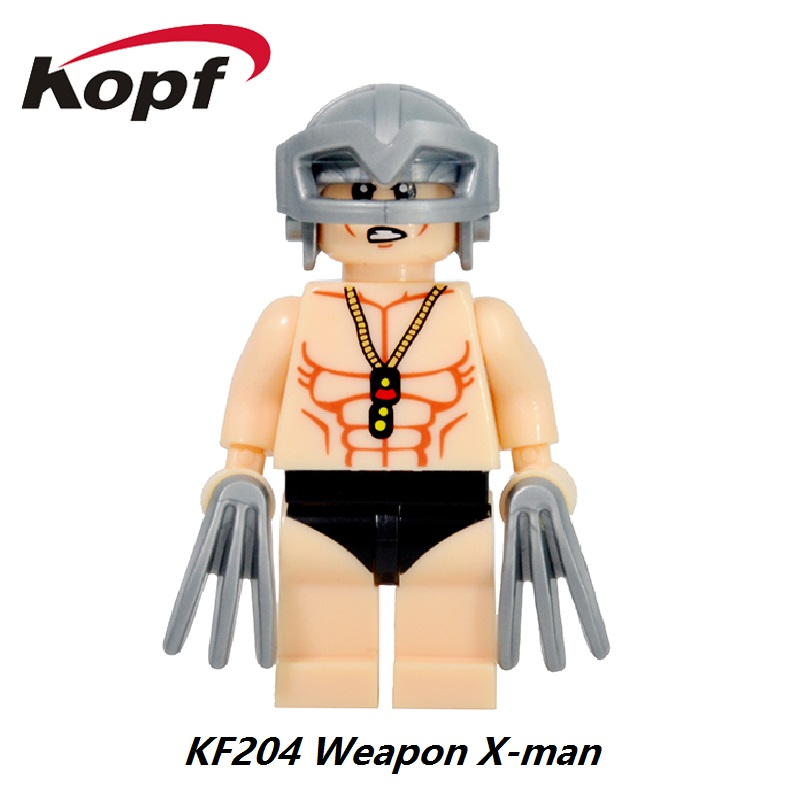 Super Heroes Untitled Wolverine Sequel Old Logan X-23 Professor X Weapon X Men Luke Skywalker Building Blocks Kids Toys KF204