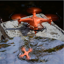 Waterproof RC Drone F51 2.4G Headless Mode RC Helicopter Quadcopter Best Toys For Kids Black Orange Remote Control Toy
