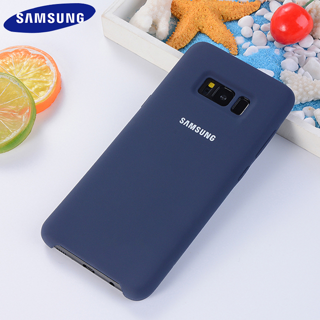 Original Samsung Galaxy S8/S8 Plus Liquid Silicone Case Silky Soft-Touch Finish Back Protective Cover For Samsung Phone