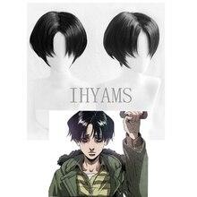 Короткие черные термостойкие парик для косплея с изображением милого сталькинга Юна бума+ шапка для парика