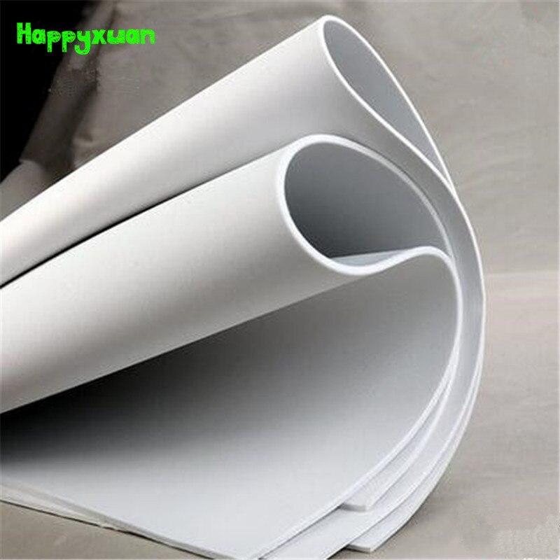 Happyxuan 2pcs/lot 100*35cm 5mm EVA Foam Sheet Cosplay White Black Two Colors Sponge Paper DIY Craft Materials Colorful