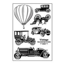 Vintage Transport Old Car Gennemsigtig Clear Frimærker til Scrapbooking DIY Silikone Seals Papir Card Making Decor Template Supplies