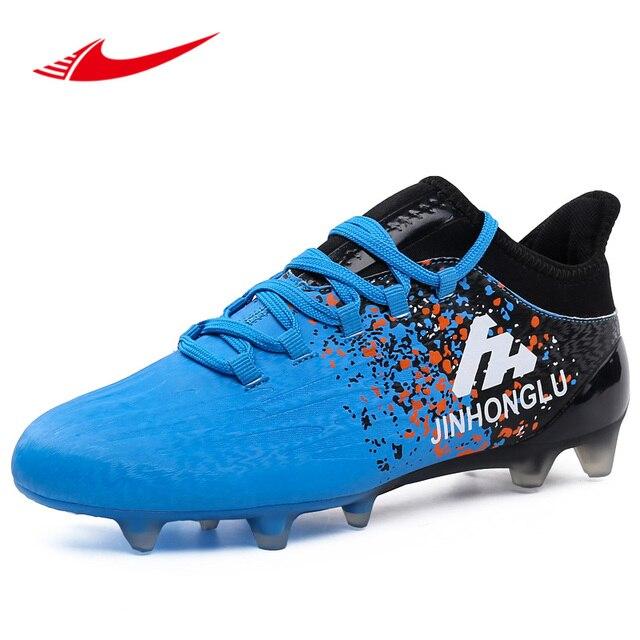 f9c68b7ad58c Длинные шипы Для мужчин Ботинки футбола взрослых газон кроссовки Superfly  Спорт Обувь для футбола уличные Нескользящие