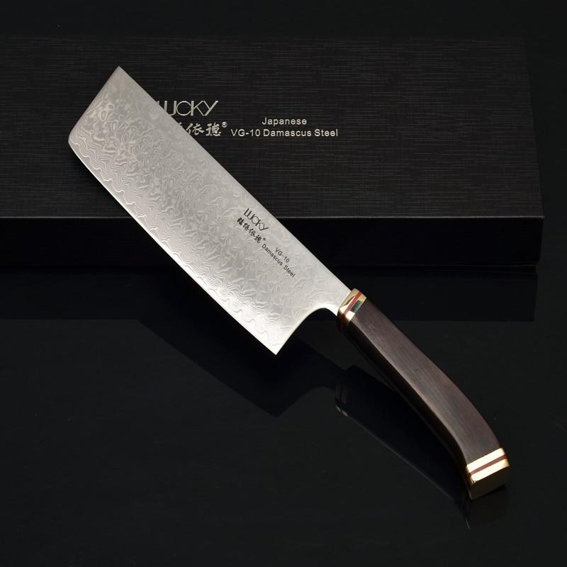 Δαμασκός με μοτίβο Blade Core VG10 Ιαπωνικό μαχαίρι κουζίνας Nakiri Μαχαίρι κουζίνας / μαχαιροπίρουνα Τέλεια ζυγαριά Εμπάνια χειρολαβή Non-slip49