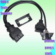 סוגר אוניברסלי מתאים עבור רבים מכונית באיכות גבוהה 50 יחידות OBD II OBD2 מתאם Y מחבר אבחון כבל מאריך הצמד in