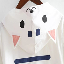 Women's Breathable Summer Cat Hooded Cotton T-Shirt