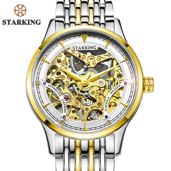 39065e200 STARKING Brand Vintage Women Automatic Watch 50m Water Resistant Luxury  Design Skeleton Mechanical Stainless Steel Wristwatches