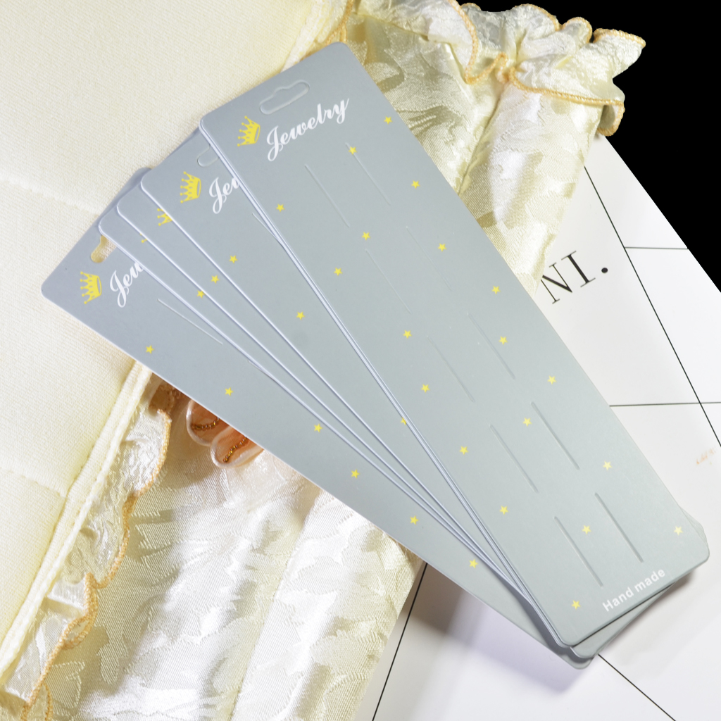 10 Pcs 24 X 6.5 Cm Hair Clip Display Cards, Earring/Necklace/Jewelry Display