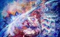 Original Fantasy Light Night Birds Phoenix Fantasy Art Artwork 4 Sizes Home Decoration Canvas Poster Print