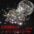 24000 pcs Tamanhos Mistos 2mm-6mm Contas de Resina Pedrinhas Natator Vara Broca Beleza Da Arte Do Prego 3D Roupas DIY Design Decorações