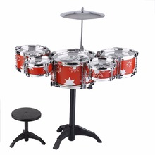 Plug Size Lightweight Mini Children Kids Practicing Drum Instrument Portable ABS Stainless Steel Drum Set With Chair drop shippi