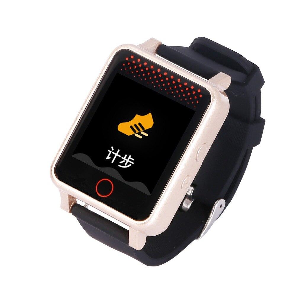 SOONHUA 1.54 pouces couleur affichage montre-bracelet SOS Anti perdu GPS Wifi Geo clôture suivi moniteur de fréquence cardiaque Smartwatch pour personnes âgées
