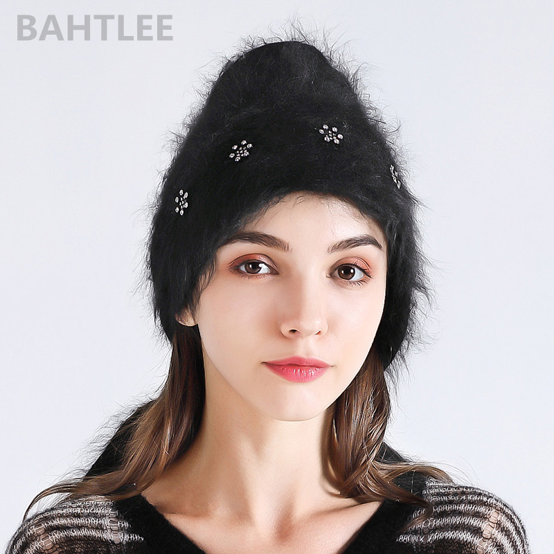 BAHTLEE 2018 Autumn winter Muslim women's angora rabbit turban hijab shawl scarf real Fur Wrap knitted cloak cape black colour