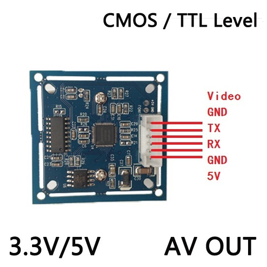 NEW RS232 / TTL JPEG Digital Serial  Camera  Module SCB-1 with video out Support VIMICRO VC0706 protocol  CCTV Camera