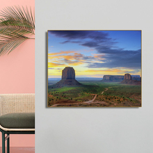 Strange Scenery Mountain Dusk Wall Art Poster Print Canvas Painting Calligraphy Decorative Picture for Living Room Home Decor