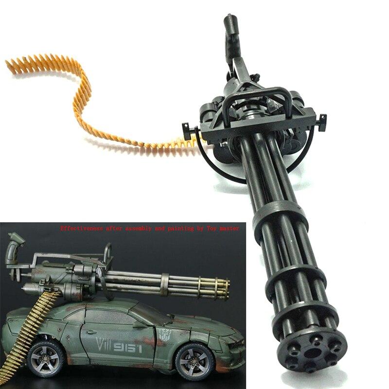 1/6 Scale 12 Inch Action Figures M134 Gatling Minigun Terminator T800 Heavy Machine Guns + Bullet Belt Gift For Children