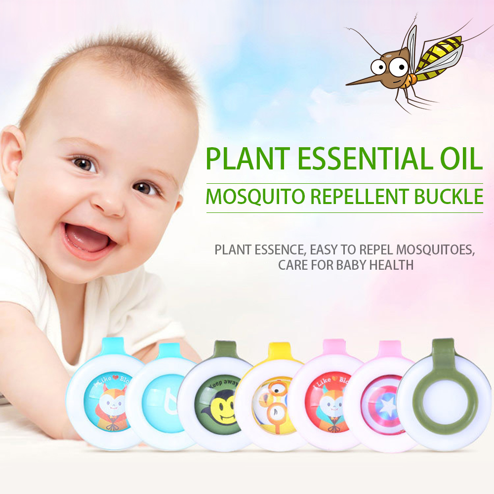 Mosquito-Repellent Button-Safe Baby Infants Outdoor 4pcs for Kids Buckle New-Arrival title=