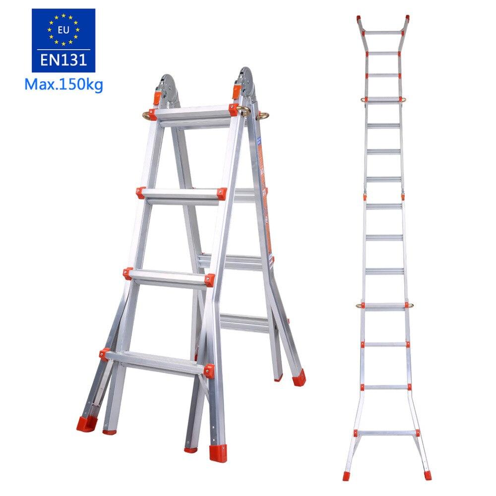 Collapsible Ladder 8 : Aluminum ladder folding step portable