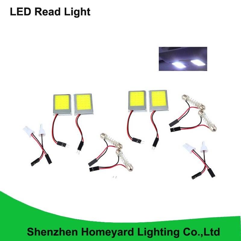 10pcs New Energysaving Vehicle White COB LED Dome Light Roof Lamp Car Interior Plate COB LED Light In Car Reading Light