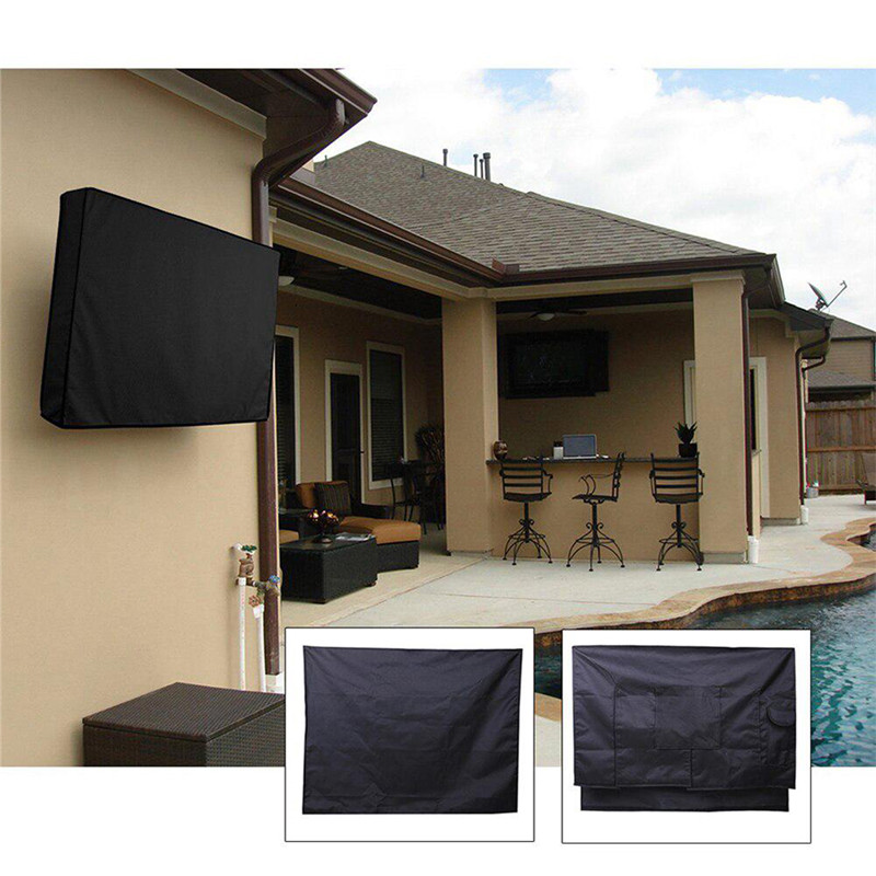 Outdoor TV Cover With Bottom Cover Quality Weatherproof Dust-proof Material Protect LCD LED Plasma Television Outdoor TV Cover(China)