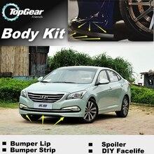 Для Hyundai Mistra/mingtu бампер губы/передний спойлер дефлектор для topgear друзья Тюнинг автомобилей вида/Средства ухода за кожей комплект /в полоску юбка