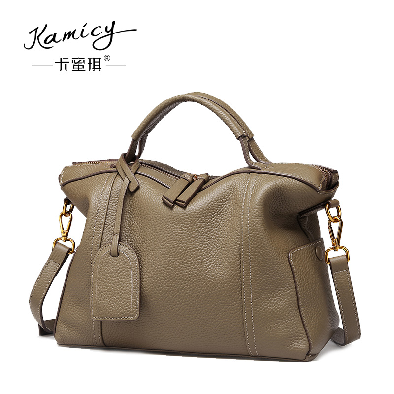 d4089f7333cd Kamicy 2018 best selling new Korean handbag style handbag elegant fashion  lady slant bag casual leather handbag youth-in Shoulder Bags from Luggage    Bags ...
