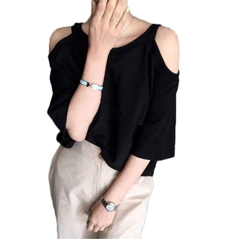 Off Shoulder Blouse And Tops blusas mujer de moda 2019 New Summer Casual Tee Shirt Femme Short Sleeve Shirt Women Blusa Top f33