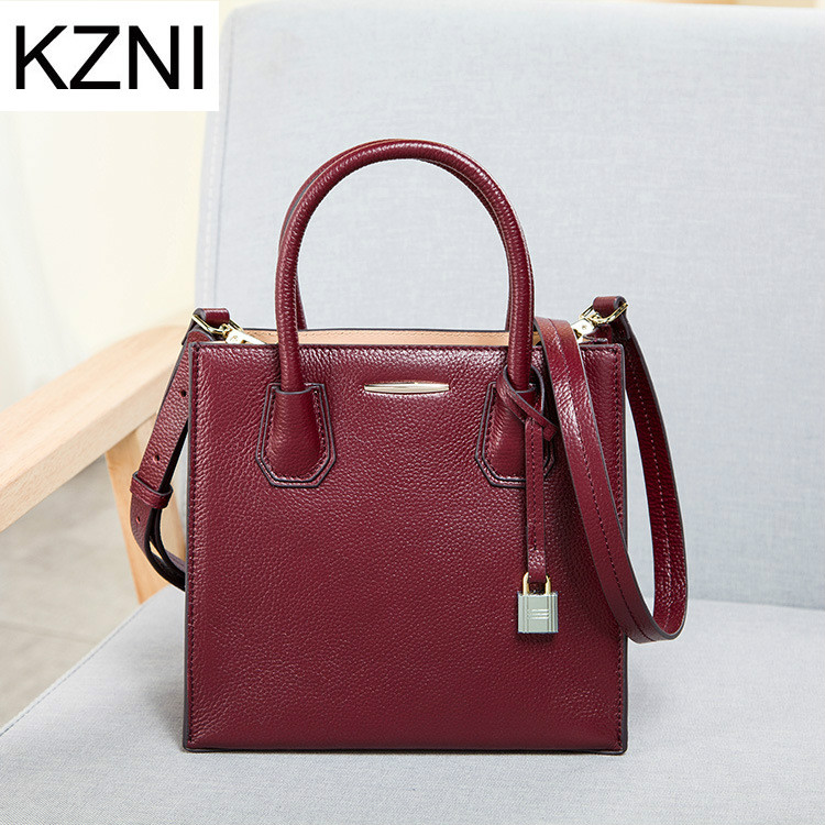 KZNI genuine leather bags for women messenger bag crossbody bags for women bolsas femininas bolsas de marcas famosas L011304