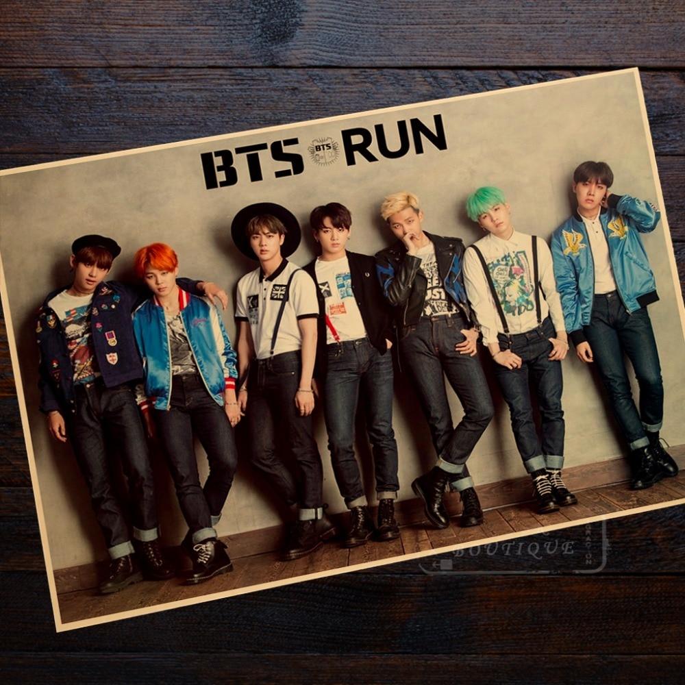 BTS Run Classic Photo Poster Retro Vintage Poster
