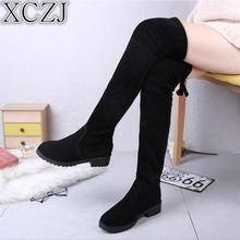 XCZJ 2019 New Hot Women Boots Autumn Winter Ladies Fashion F