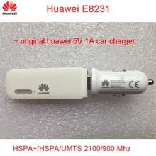 Разблокирована оригинальный huawei E8231 с оригинальной huawei 5 V 1A автомобильное зарядное устройство 21 м 3g USB Wi-Fi модем
