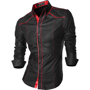 Image 2 - Jeansian אביב סתיו תכונות חולצות גברים מקרית ג ינס חולצה הגעה חדשה ארוך שרוול מקרית Slim Fit זכר חולצות Z034
