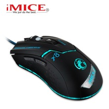 New iMACE X8 filaire Gaming Mouse souris optique souris d'ordinateur E – sport souris USB pour ordinateur portable
