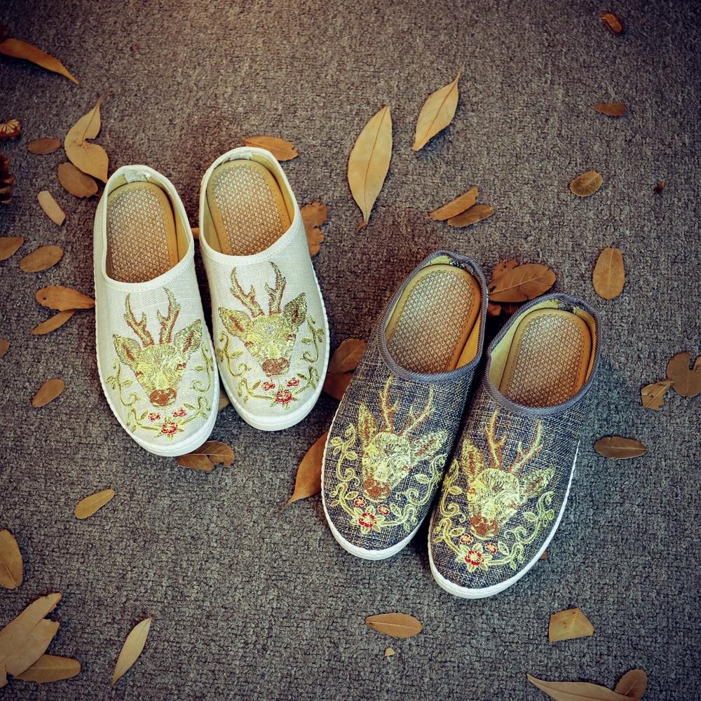 43 Jane Chino Flats Zapatos Mujer Más azul Mary Mujeres Beige Bordado Moda Pekín 35 gris Tamaño Viejo Estilo 2017 Casual ptqvFx
