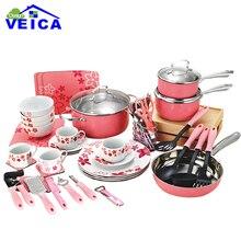59 Piece Cooking Tools kitchen utensils set & Cookware Set home & garden