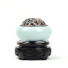 Width of Longquan celadon incense burner ceramic small fragrant oil coil furnaces imitates the copper furnace