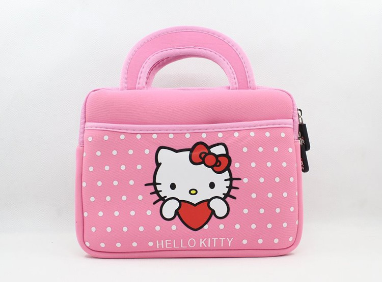 Cute Hello Kitty Soft Case Bag Handbag Pouch Skin Sleeve for iPad Mini 2 3 4 Samsung Amazon Kindle HD7 HD8 All 7