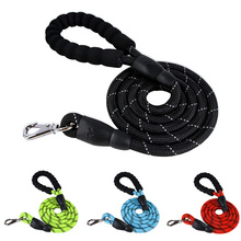 Reflective Nylon Dog Leash Rope Running Walking Puppy Leash Padded Handle Dog Walking Leash For Small/Medium/Large Dogs