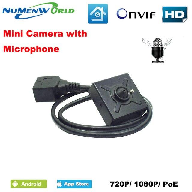 Numenworld IP camera 720P/1080P POE HD webcam Mini CCTV Video Audio camera  ONVIF P2P RTSP Surveillance Camera for Home Indoor-in Surveillance Cameras