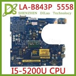 KEFU 5558 CN 0FRV68 dla DELL CN 0FRV68 FRV68 5458 5558 5758 Laptop płyty głównej I5 5200U GM LA B843P REV: 1.0 pracy 100% w Płyty główne od Komputer i biuro na