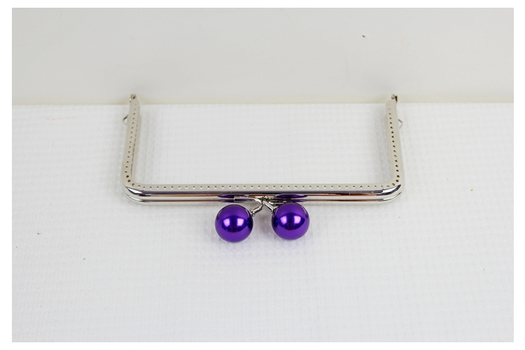 The Cheapest Price 10pcs Wholesale 15 Cm Pearl Candy Bead Metal Purse Frame Handle Silver Tone Glossy Long Feet Purse Frame Diy Bag Accessory Luggage & Bags