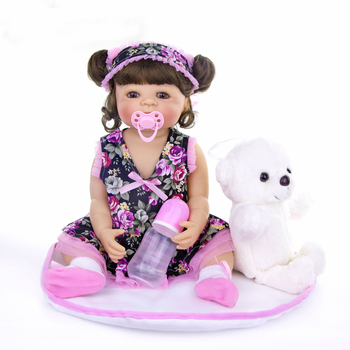 bebes reborn doll 55cm Silicone reborn baby real doll adorable Lifelike toddler Bonecas girl menina l.o.l dolls toy gift
