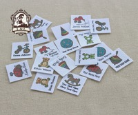 96 Custom Logo Labels Children S Clothing Tags Name Tags White Organic Cotton Labels Childhood Toys