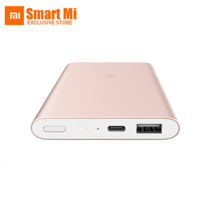 New Original Xiaomi Power Bank 10000mAh Pro Quick Charger USB Type C Ultra Slim Battery Powerbank For Xiaomi Mi5 iPhone6 xiaomi original new 5000mah 2 alloy metal ultra thin power bank for mobile phone