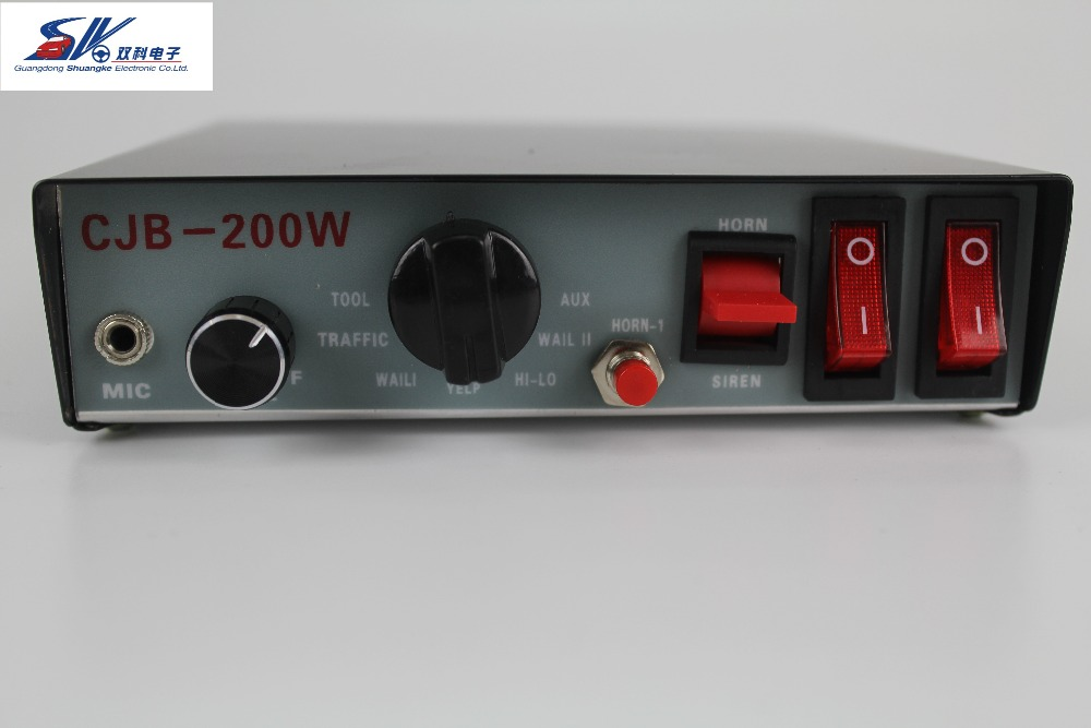 SK New Police fire ambulance Van Truck PA System 100W Loud Horn 12V Car Siren Auto 7 Sounds tone Hot Selling