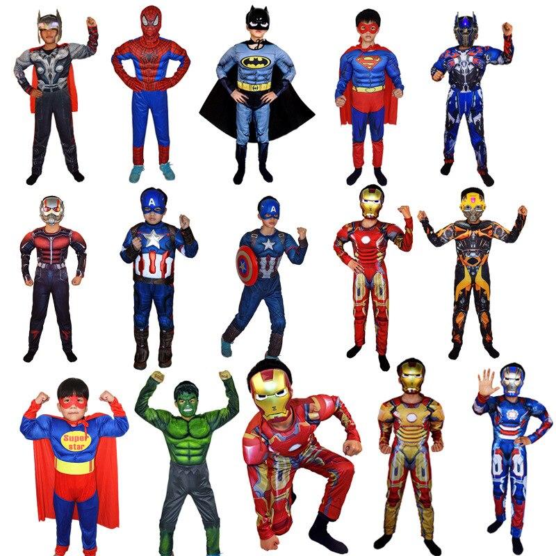 ᗛChildren\'s clothing Christmas DC Justice League Iron man Hulk ...
