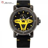 Grönland Hai 2 Serie Sport Uhr Luxus Marke Gelb Datum Crazy Horse Leder Quarz Männer Handgelenk Uhren Orologio Uomo/ SH455|Quarz-Uhren|Uhren -